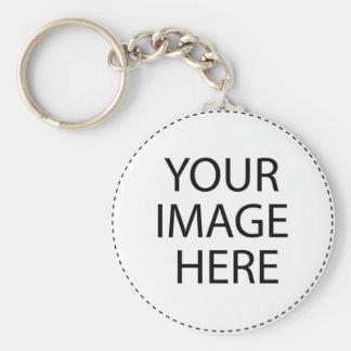 Porte-clés Blanc de modèle.  Ajoutez votre texte d'image ici