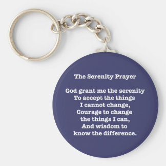 Porte-clés Blanc de prière de sérénité sur le porte - clé