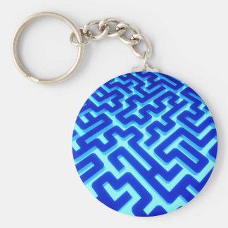Porte-clés Bleu de labyrinthe