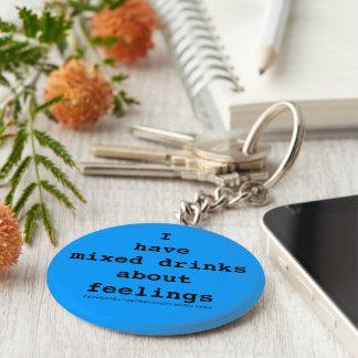 Porte-clés Bleu de logo de cocktails