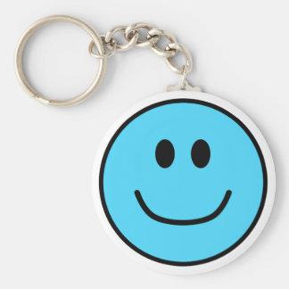 Porte-clés Bleu de sourire 0002 de porte - clé de visage