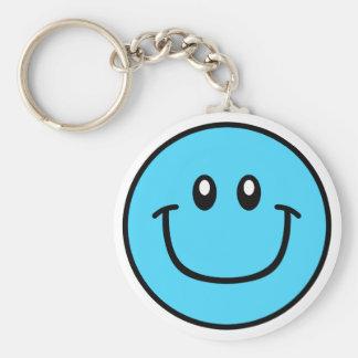 Porte-clés Bleu de sourire 0003 de porte - clé de visage