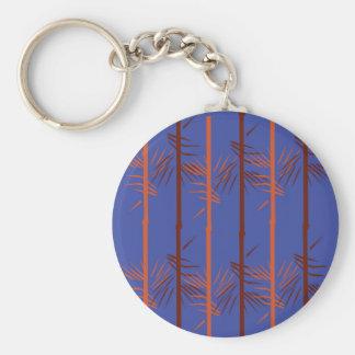 Porte-clés Bleu en bambou de conception