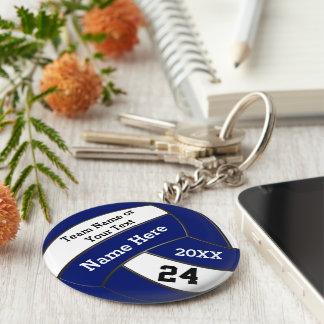 Porte - clés bleus et blancs personnalisés de porte-clé rond