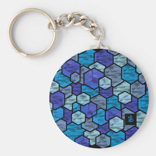 Porte-clés blue glass