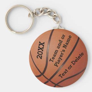 Porte - clés bon marché de basket-ball 3 modèles porte-clé rond