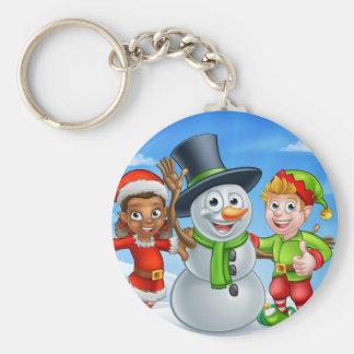 Porte-clés Bonhomme de neige de Noël de bande dessinée et