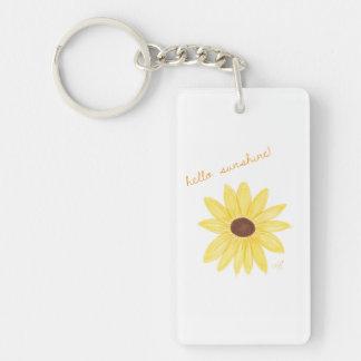 Porte-clés Bonjour porte - clé de soleil