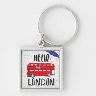 Porte-clés Bonjour signe en lettres de main de Londres | avec