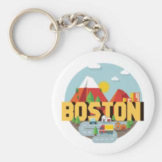 Porte-clés Boston comme destination
