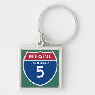Porte-clés Bouclier d'autoroute nationale de la Californie CA