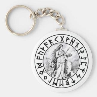 Porte-clés bouclier de Freya Rune de porte - clé