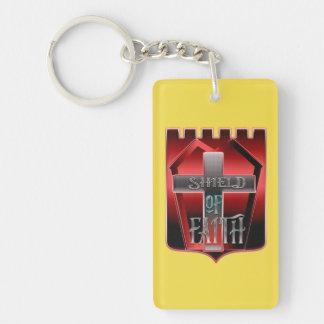 Porte-clés Bouclier de porte - clé de foi