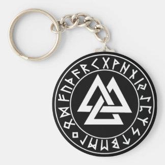 Porte-clés bouclier de Rune de Tri Triangle de porte - clé