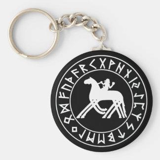 Porte-clés Bouclier de Sleipnir de porte - clé sur le noir