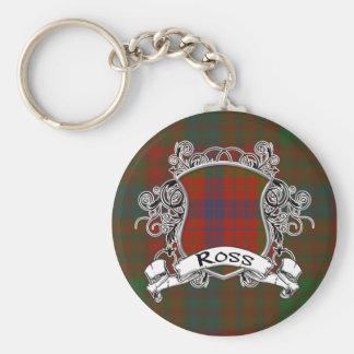 Porte-clés Bouclier de tartan de Ross