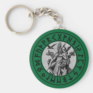 Porte-clés bouclier d'Odin de porte - clé