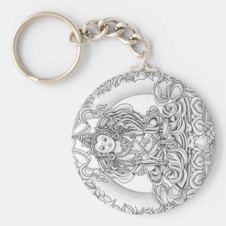 Porte-clés Bouddha de porte - clé de compassion