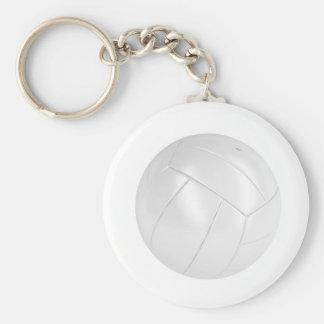 Porte-clés Boule blanche de volleyball