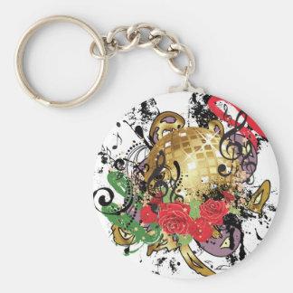 Porte-clés Boule grunge 2 de disco d'or