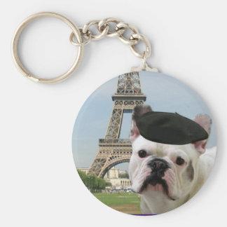 Porte-clés Bouledogue français dans le porte - clé de Paris