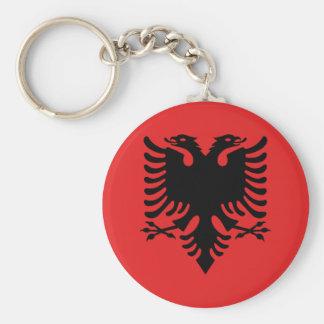 Porte-clés Bouton albanais de drapeau