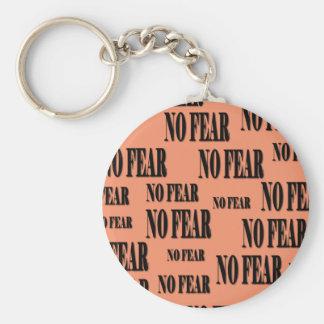 Porte-clés Bouton de base aucun porte - clé de crainte