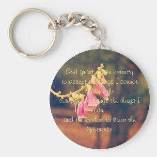 Porte-clés Bouton de prière de sérénité