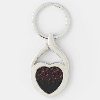 Porte-clés Braises tordues du porte - clé w/Hot de coeur en