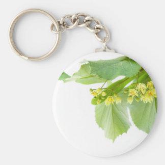 Porte-clés Brindille de floraison d'arbre de limetree ou de