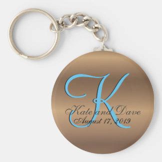 Porte-clés bronze du monogramme 3d