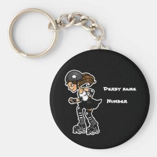 Porte-clés Brouilleur noir et blanc de Derby de rouleau