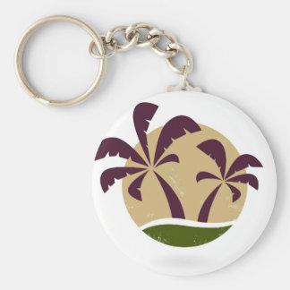 Porte-clés Brun vintage de luxe de symbole de paumes