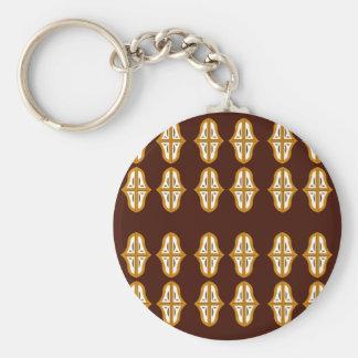 Porte-clés Brun vintage et or du Maroc