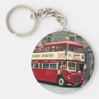 Porte-clés Bus touristique vintage d'Edimbourg, Ecosse, R-U