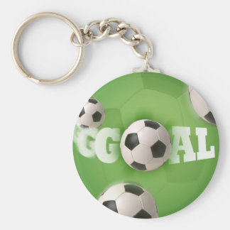 Porte-clés But du football de ballon de football - porte -