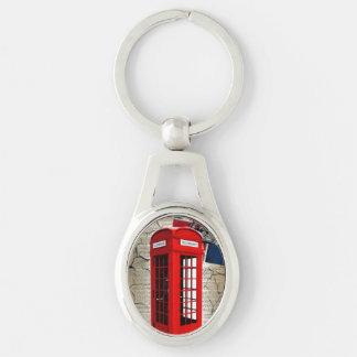 Porte-clés cabine téléphonique rouge de couronne de jubilé de