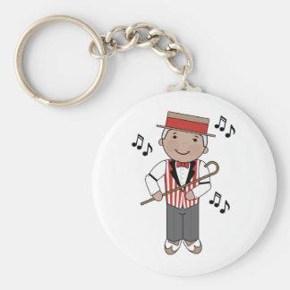 Porte-clés Cadeau de chanteur de musique de raseur-coiffeur