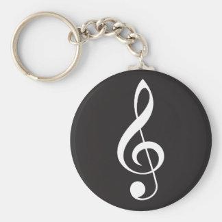 Porte-clés Cadeau de porte - clé de musique de clef triple