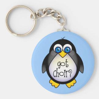 Porte-clés Cadeau obtenu mignon de pingouin de choeur