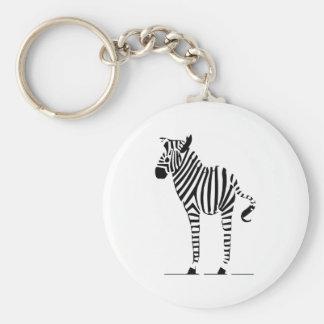 Porte-clés Cadeaux d'amants de zèbre