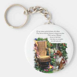 Porte-clés Cadeaux d'art d'épagneul de Bretagne d'Américain