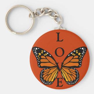 Porte-clés Cadeaux de papillon de porte - clé d'amour de