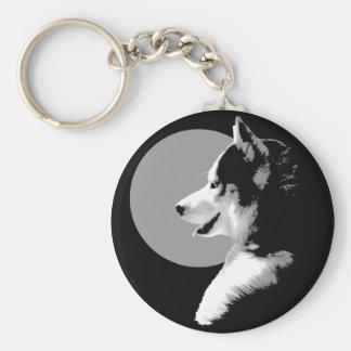 Porte-clés Cadeaux enroués de chien de Malamute de chien de