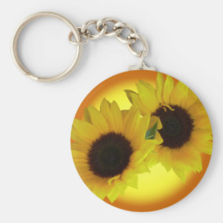 Porte-clés Cadeaux jaunes gais de fleur de porte - clés de