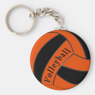 Porte-clés Cadeaux oranges et noirs de volleyball, bon marché