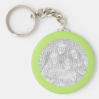 Porte-clés Cadre vert simple de photo