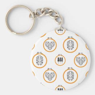 Porte-clés Cadres de broderie de tapisserie à l'aiguille