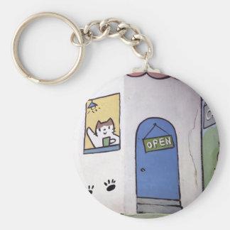 Porte-clés Café de chat