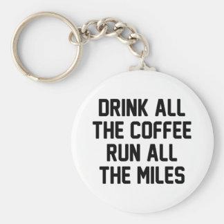Porte-clés Café et course